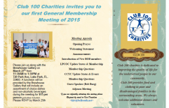 Invitation to First General Membership Meeting of 2015